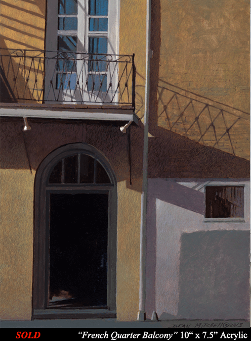 "French Quarter Balcony 10"" x 7 1/2"" Acrylic"