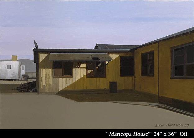 "Maricopa House 24"" x 36"" oil"
