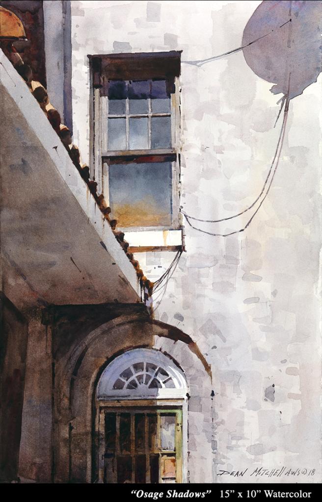 """Osage Shadows 15"""" x 10"""" Watercolors"""