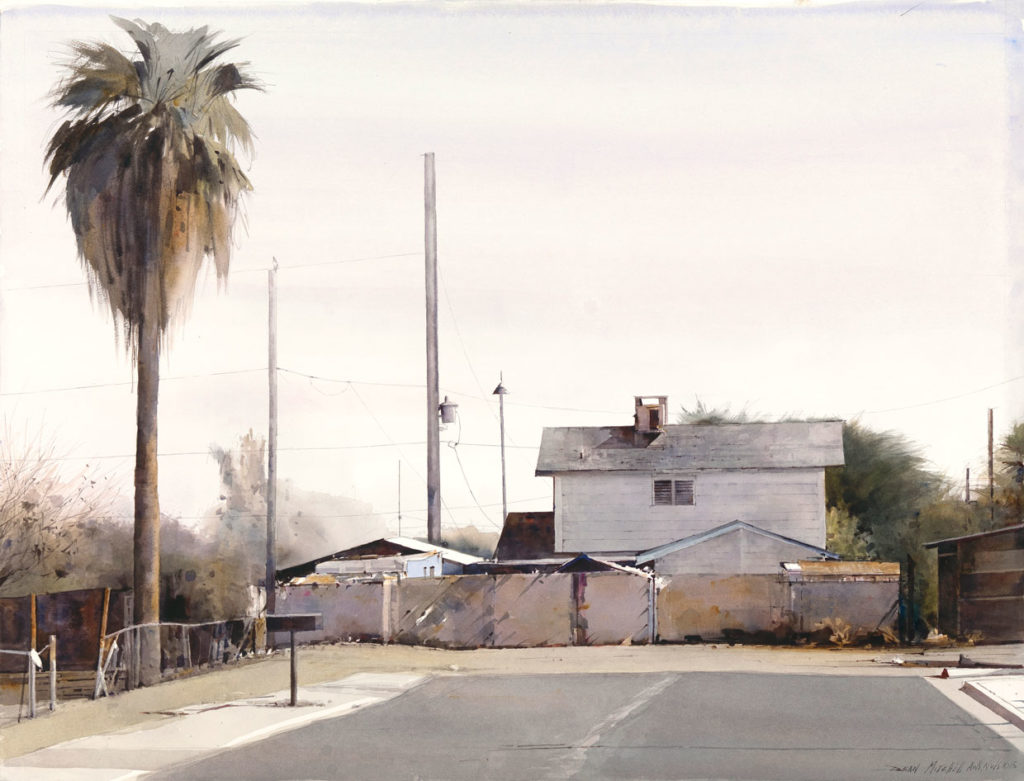 "Dead End 30"" x 22"" watercolor"