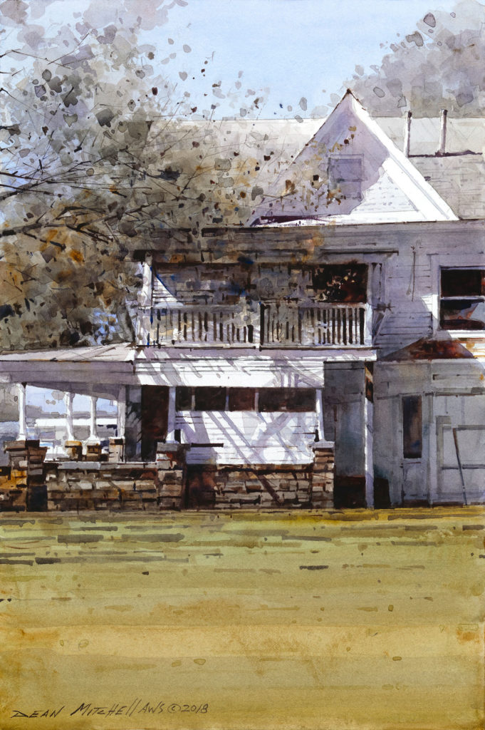 "Osage House 15"" x 10""   Watercolor"