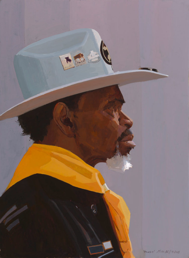 "R.T. Williams Buffalo Soldier Acrylic 30"" x 22"""