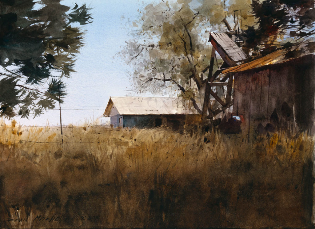 "<strong style=""color: red;"">SOLD</strong>  Rustic West  10"" x 15""  Watercolor"