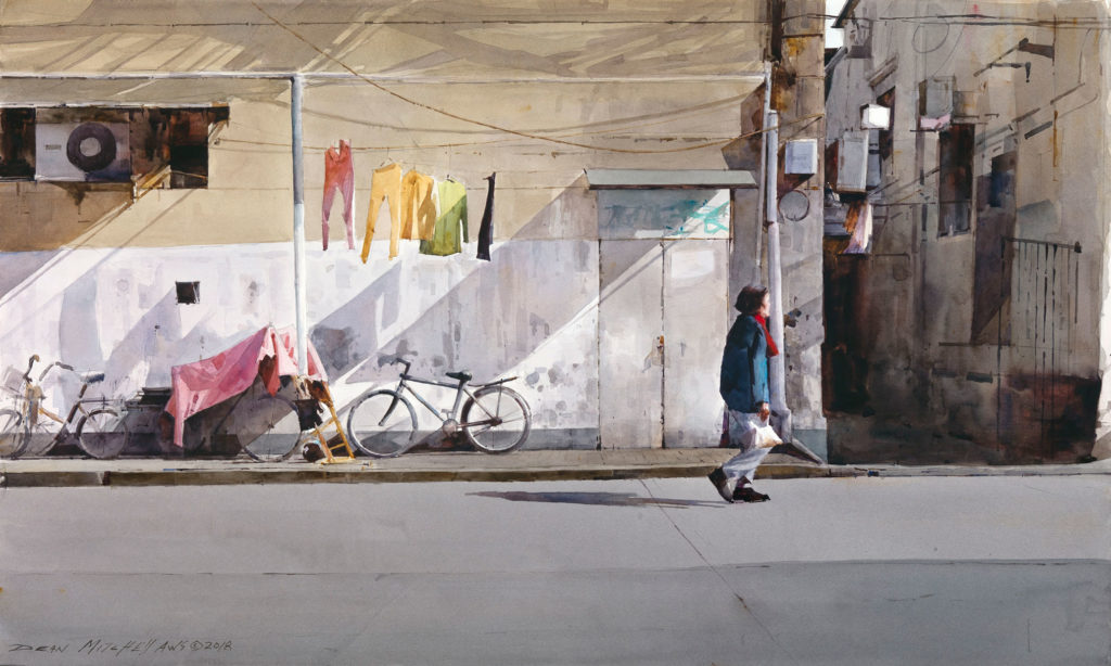 "<strong style=""color: red;"">SOLD</strong>  Shanghai Neighborhood  19"" x 30""  Watercolor"