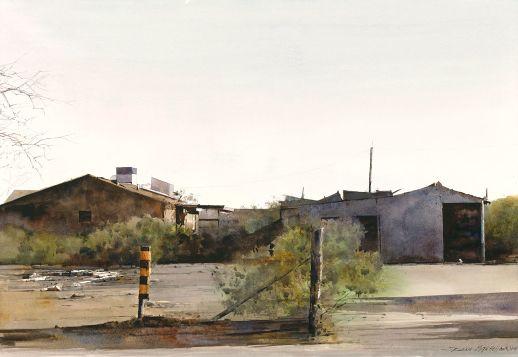 "<strong style=""color: red;"">SOLD</strong>  Abandon on the Reservation 20"" x 30"" watercolor"