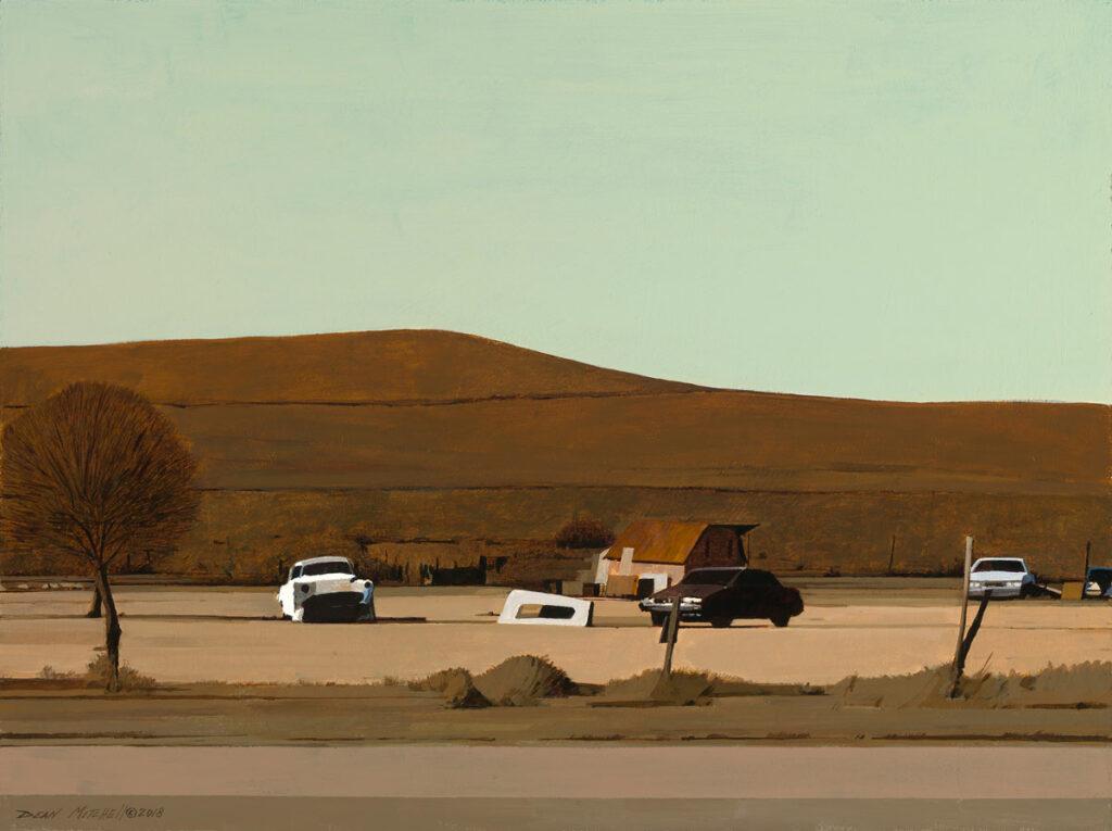 "Desert Rest Stop 18"" x 24"" acrylic"