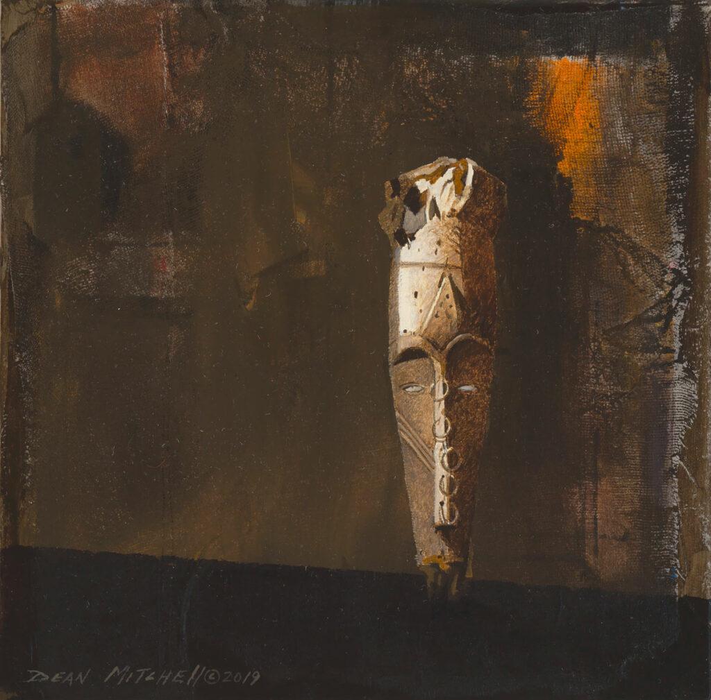 """African Mask 10"""" x 10"""" acrylic"""