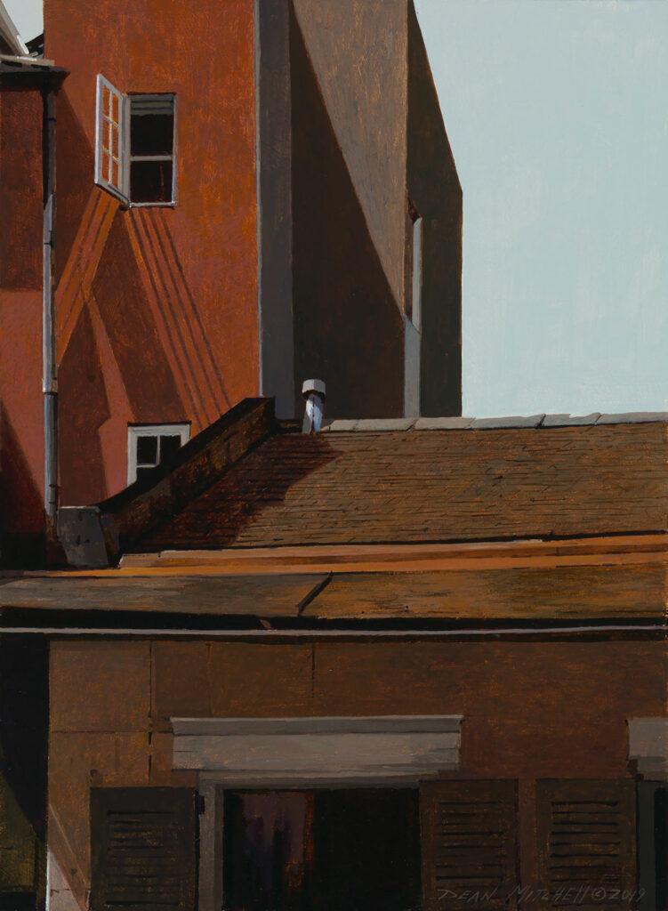 """French Quarter Window15"""" x 10"""" acrylic"""