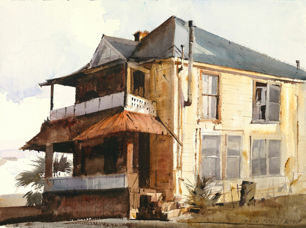 "<strong style=""color: red;"">SOLD</strong> Jackson House18"" x 24"" watercolor"
