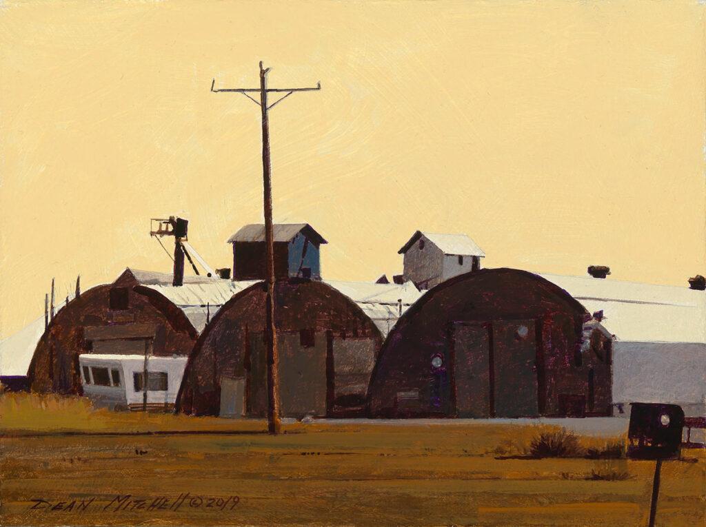 "Western Farm Country 7.5"" x 10"" acrylic"
