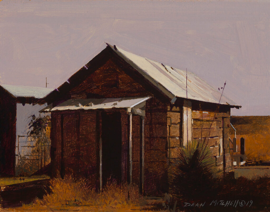 "<strong style=""color: red;"">SOLD</strong> Shotgun House Acrylic 5 1/4"" x 6 7/8"""