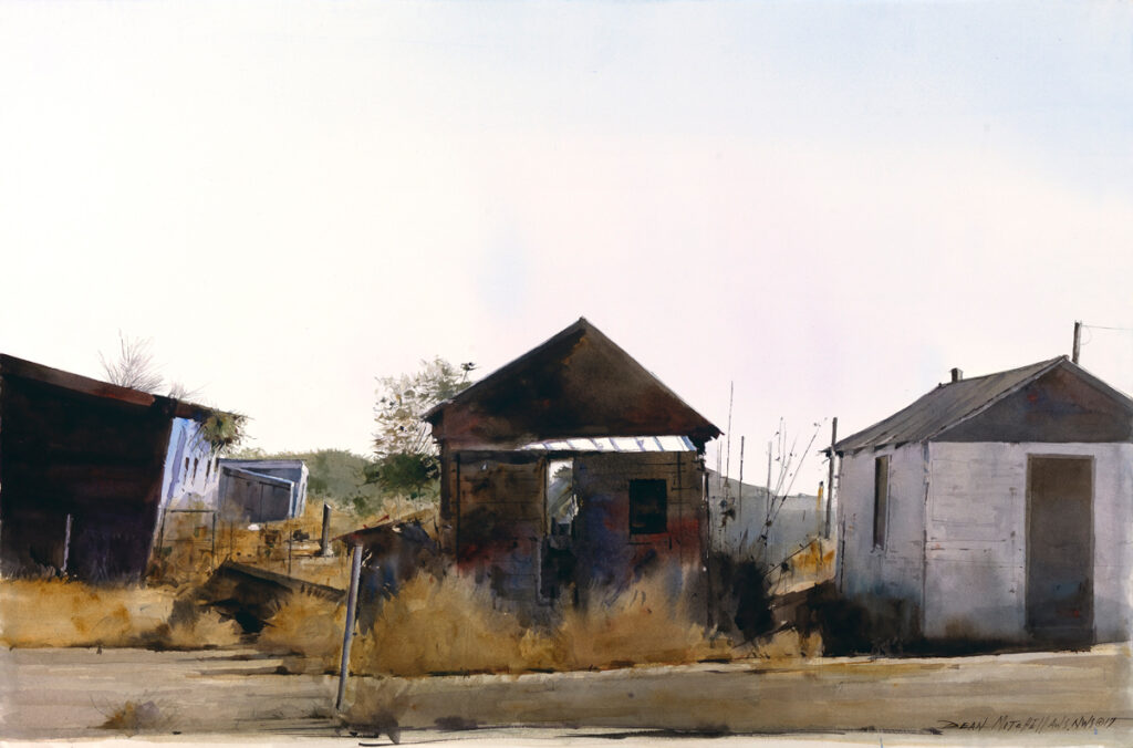 "<strong style=""color: red;"">SOLD</strong> Shotgun Houses  20"" x 30"" watercolor"